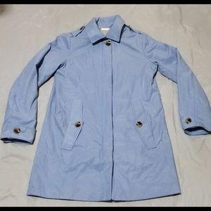 EUC.  Antonio Melani A-Line Rain Coat, Dusty Blue